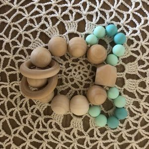 NaturalCreations Accessories - Blue teething bunny